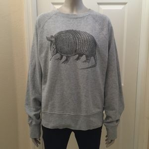 Quirky armadillo sweatshirt unisex wardrobe staple